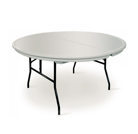 Table 5 ft  round plastic – Lincoln Rent-All & Sales, Inc